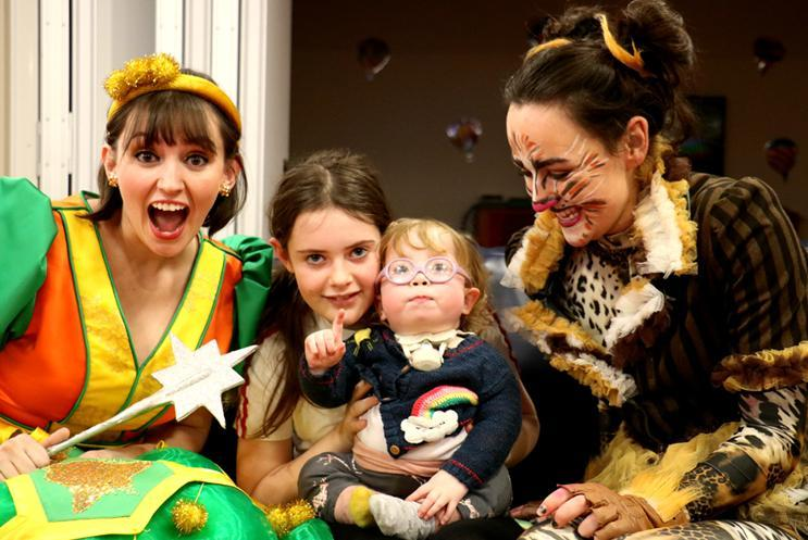 Panto cast at Naomi House & Jacksplace