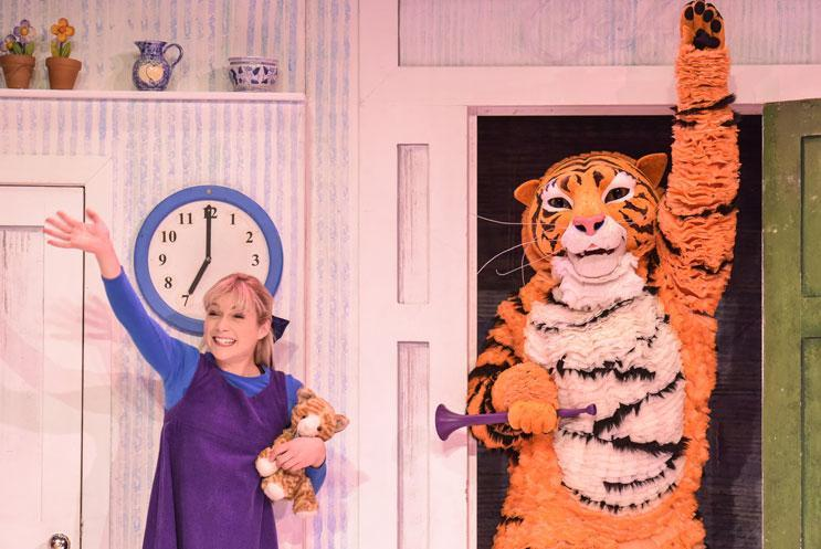 The Tiger Who Came to Tea production shot